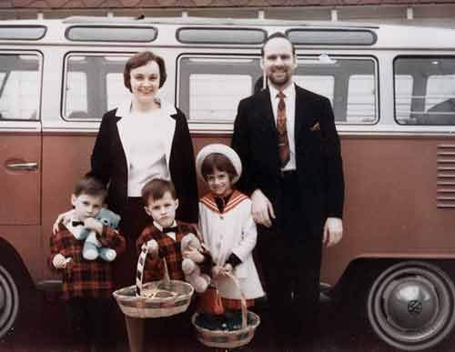 Family with New VW Bus