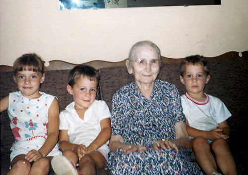 Kids with Greatgrandmother