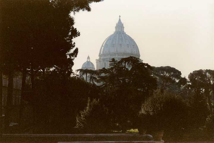 St Peter's Basilica from the Vatican