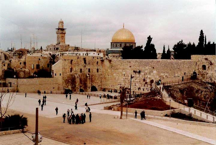 The Western Wall on Temple Mount