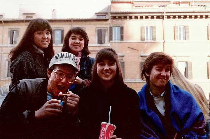 Students in Piazza Navona